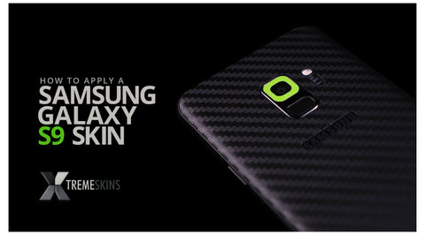 How to apply a Samsung Galaxy S9 skin