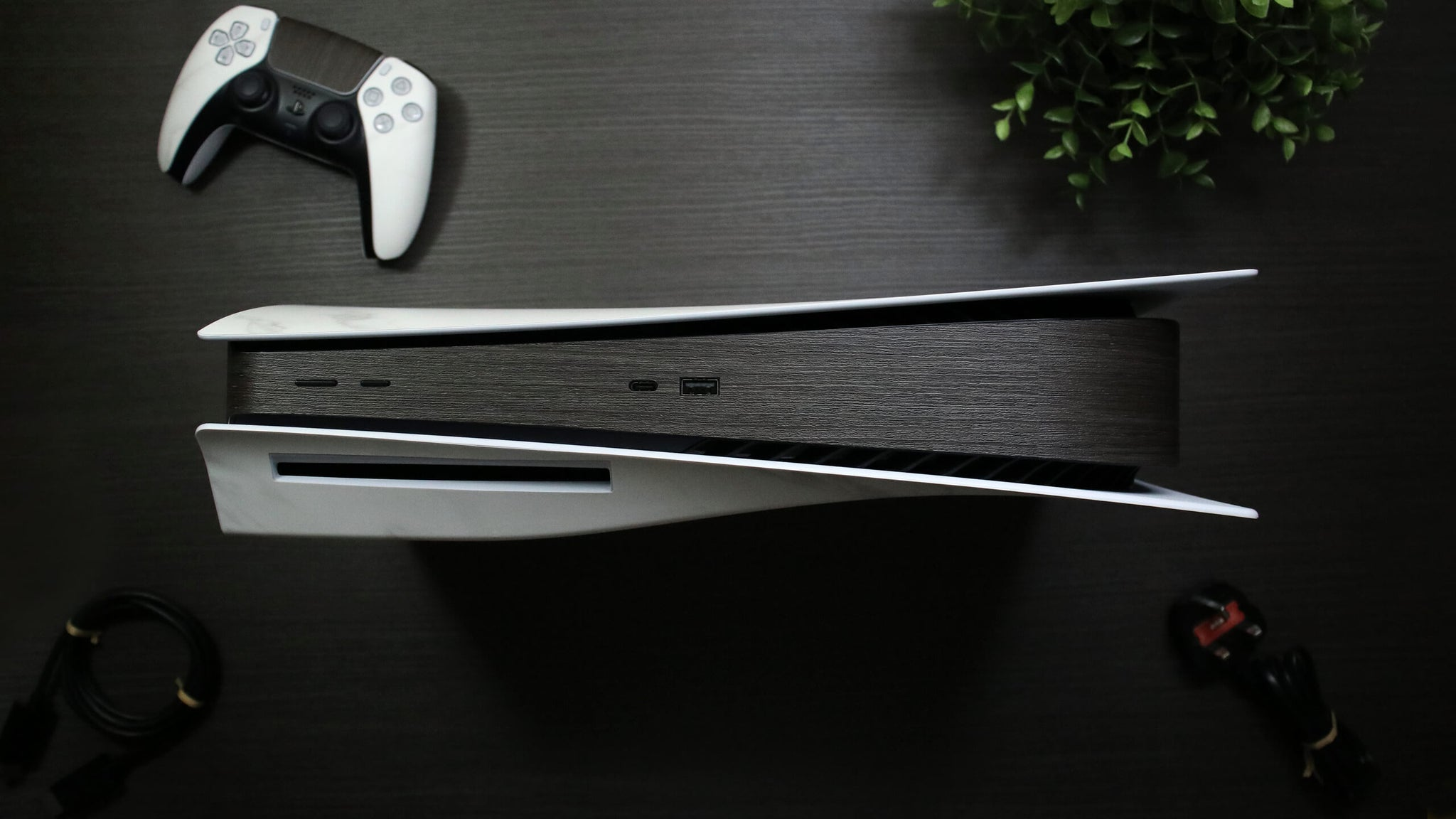 Sony PS5 Console Silverblack Wood Skins