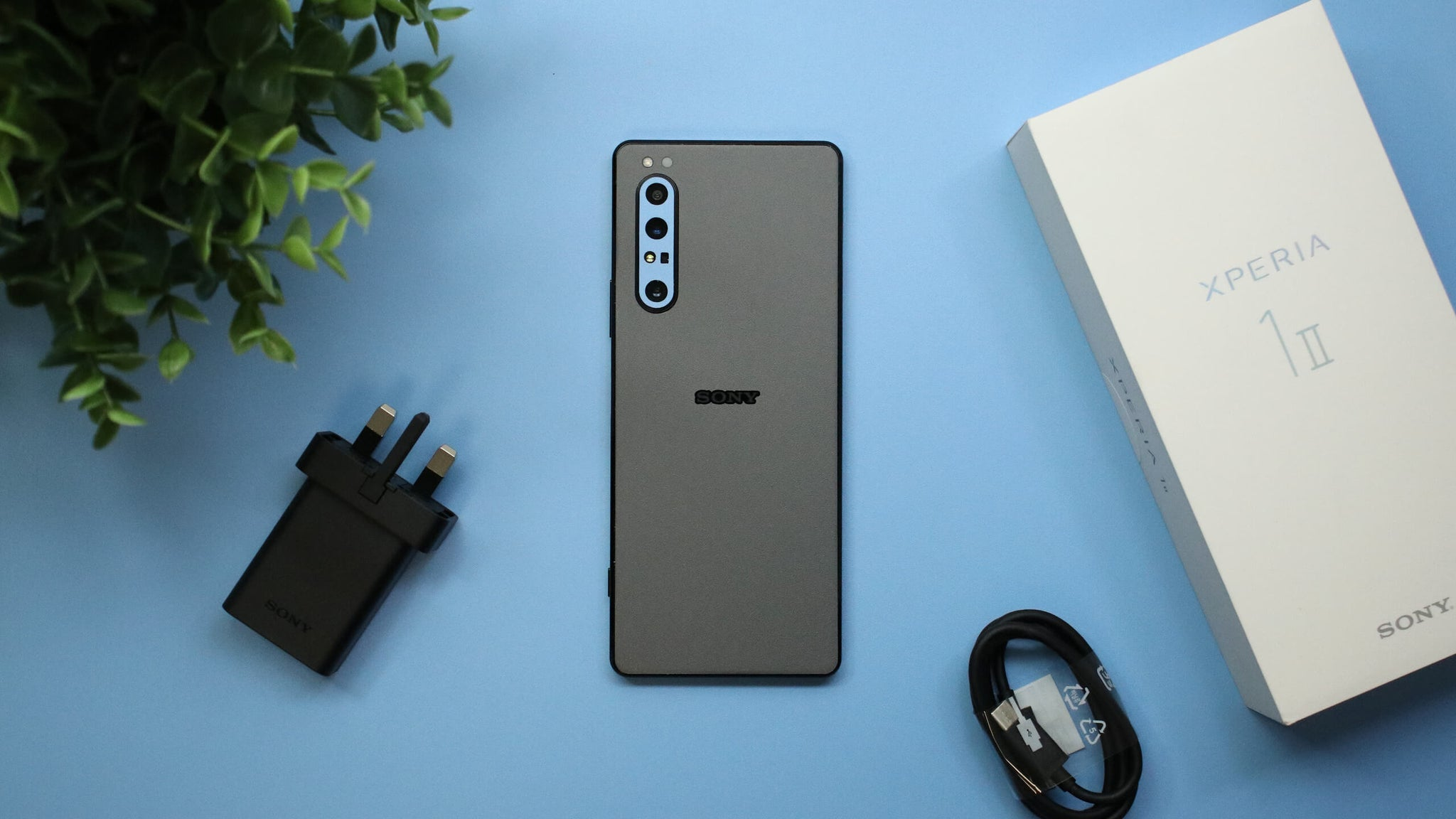 Sony Xperia 1 ii Textured Matt Grey Skins