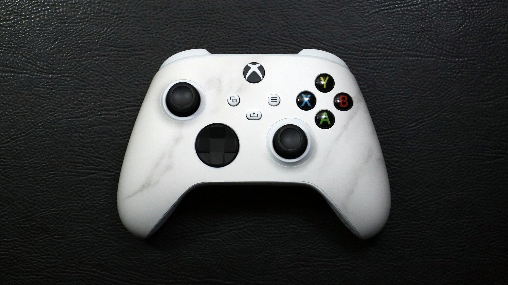 Xbox Series S White Marble Controller Skins