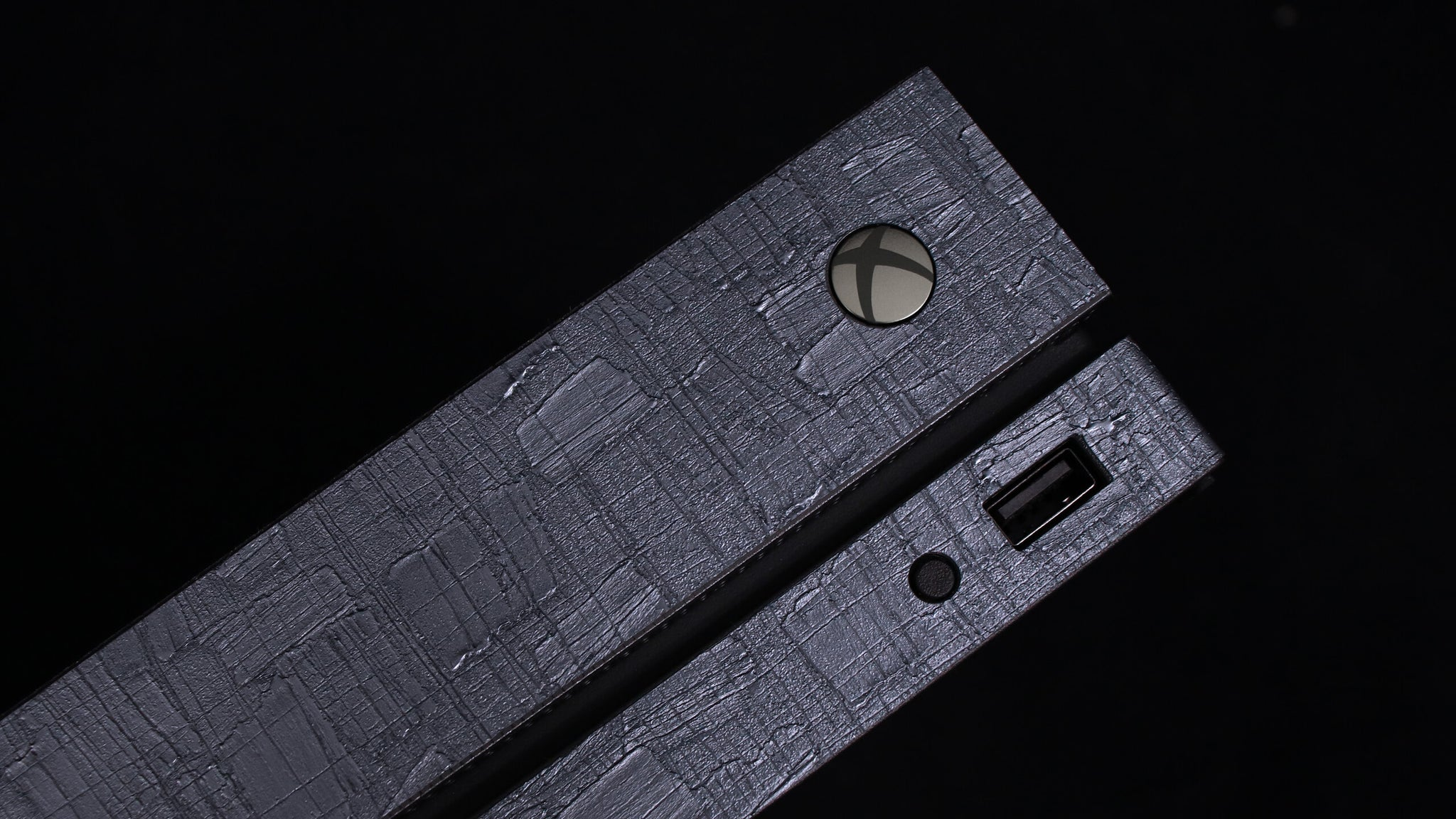 Xbox One X Carved Charcoal Skins