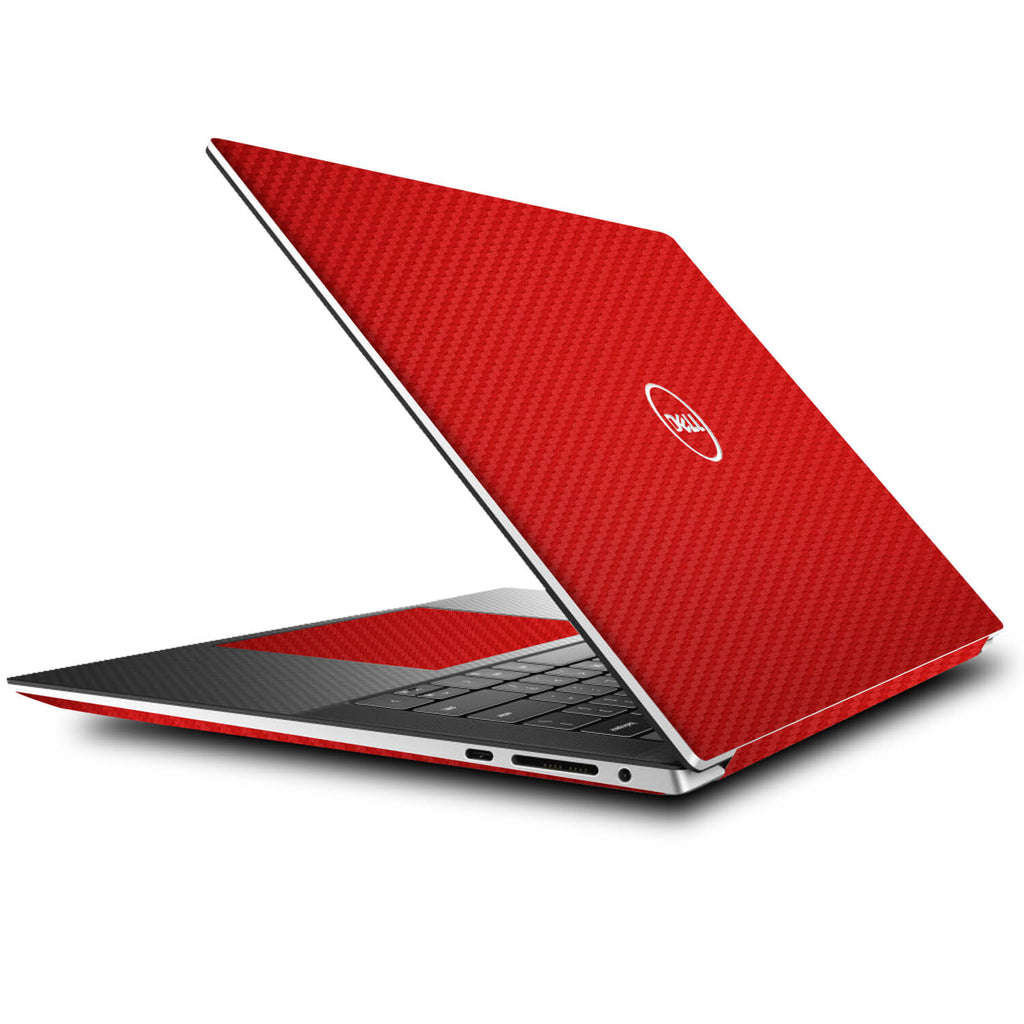 Dell XPS 15 (9500) Red Carbon Fibre Skins