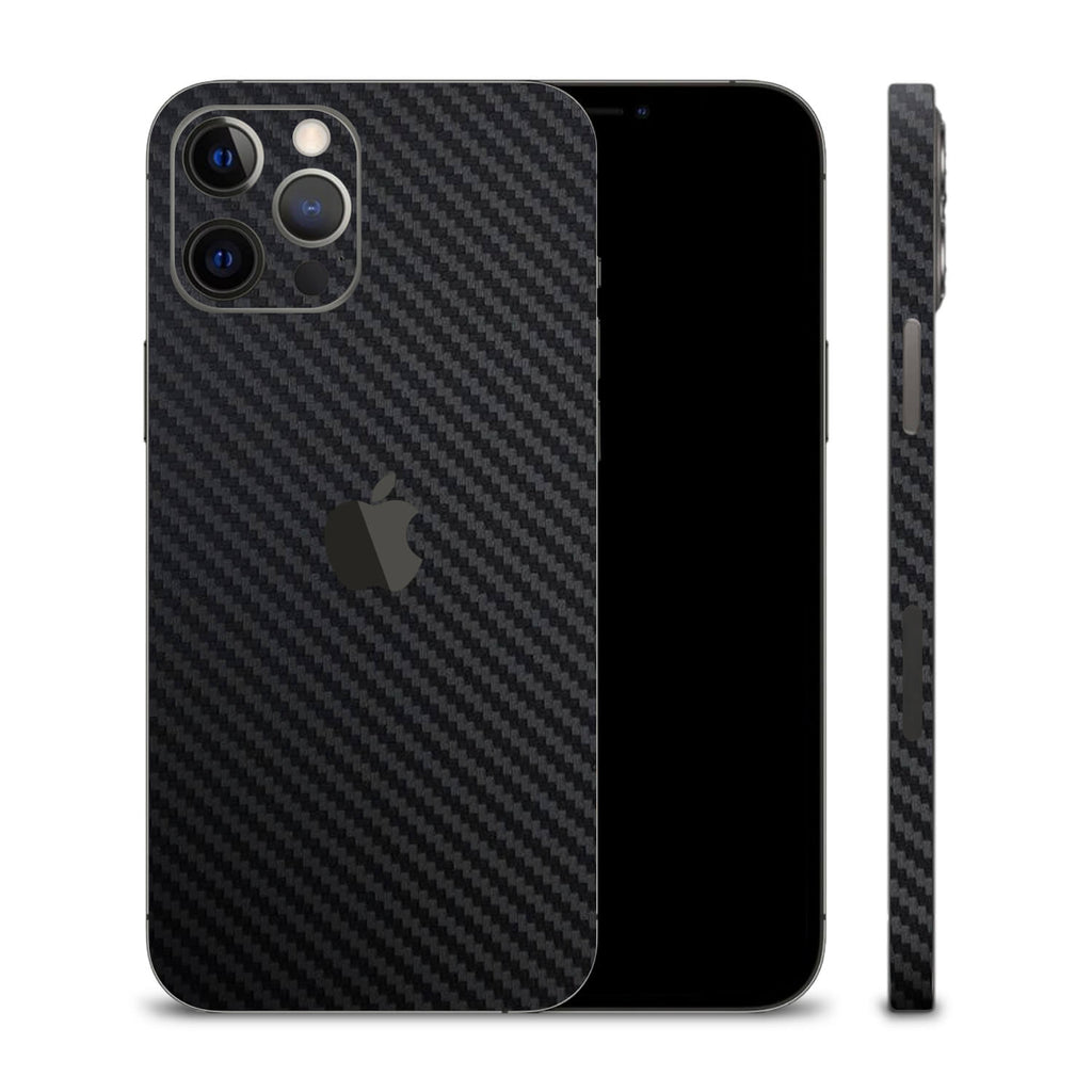 iPhone 12 Pro Black Carbon Fibre Skins