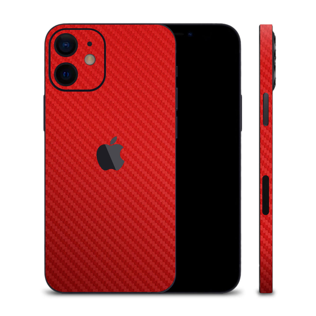 iPhone 12 Red Carbon Fibre Skins