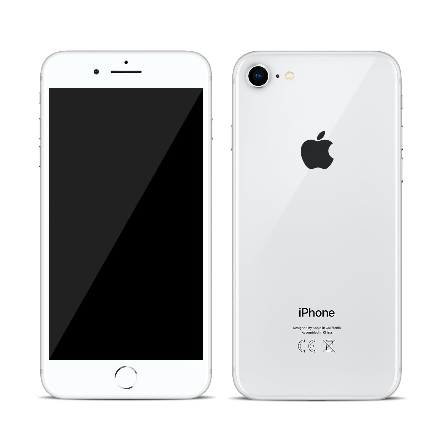 Iphone  White And Silver