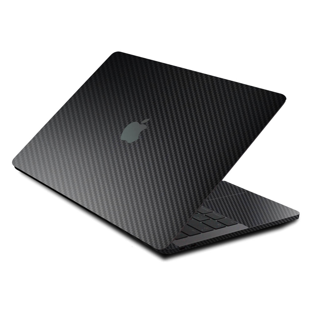 "MacBook Pro 13"" Skins (2020 onwards) Black Carbon Fibre Skins"