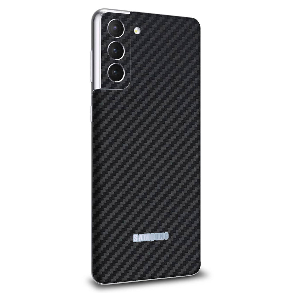 Samsung Galaxy S21 Plus Black Carbon Fibre Skins