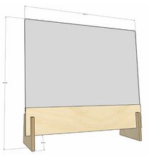 Load image into Gallery viewer, Safescreen Acrylic Screen - 750mm wide by 700mm high (75mm gap below screen)