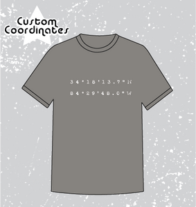 CUSTOM COORDINATES TEE- COMFORT COLORS
