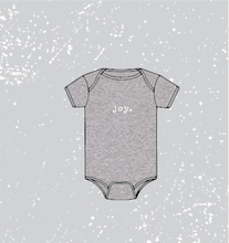 Load image into Gallery viewer, BABY HOLIDAY SPIRIT ONESIE - GREY