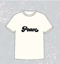 Load image into Gallery viewer, PEACE FLOCKED TEE