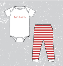 Load image into Gallery viewer, BABY HOLIDAY SPIRIT PJ SET - WHITE