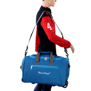 Hard Craft Premium Light Weight Cabin Size Trolley Bag Duffel trolley Bag - TBlue