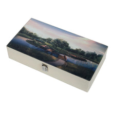 Load image into Gallery viewer, Hard Craft Watch Box Case PU Leather for 12 Watch Slots with Home Scenery Print