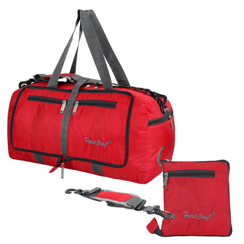 Hard Craft Lightweight Luggage Folding Travel Air Bag - Red