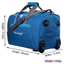 Load image into Gallery viewer, Hard Craft Premium Light Weight Cabin Size Trolley Bag Duffel trolley Bag - TBlue