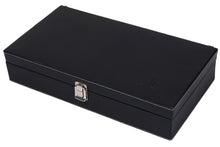 Load image into Gallery viewer, Hard Craft Watch Box Case PU Leather for 10 Watch Slots - Black
