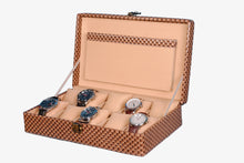 Load image into Gallery viewer, Hard Craft Watch Box Case PU Leather for 10 Watch Slots - Brown Matt