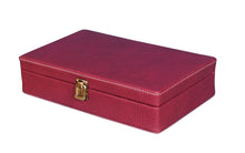 Load image into Gallery viewer, Hard Craft Watch Box Case PU Leather for 10 Watch Slots - Dotted Maroon