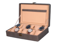 Load image into Gallery viewer, Hard Craft Watch Box Case PU Leather for 10 Watch Slots - Dotted Grey
