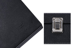 Hard Craft Watch Box Case PU Leather for 12 Watch Slots - Black