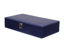 Load image into Gallery viewer, Hard Craft Watch Box Case PU Leather for 12 Watch Slots - Blue