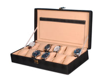Load image into Gallery viewer, Hard Craft Watch Box Case PU Leather for 12 Watch Slots - Dotted Black