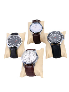 Hard Craft Watch Box Case PU Leather for 12 Watch Slots with Watch Scenery Print