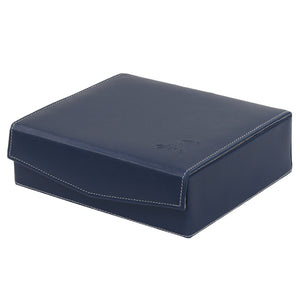 Hard Craft Watch Box Case PU Leather for 6 Watch Slots - Blue