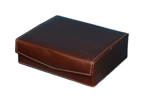 Hard Craft Watch Box Case PU Leather for 6 Watch Slots - Brown