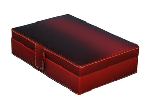 Hard Craft Watch Box Organizer PU Leather for 8 Watch Slots - Maroon