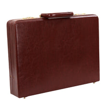 Load image into Gallery viewer, Hard Craft Vegan Leather Briefcase Attache Golden Combination - Maroon