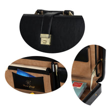 Load image into Gallery viewer, Hard Craft Vegan Leather Briefcase Attache Combination Lock Ultra Slim - Black