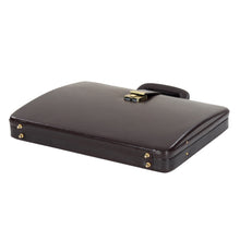 Load image into Gallery viewer, Hard Craft Vegan Leather Briefcase Attache Combination Lock Ultra Slim - Chocolate Brown