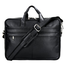 Load image into Gallery viewer, Hard Craft Vegan Executive Leather Office Laptop Bag Briefcase - Black