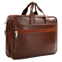 Load image into Gallery viewer, Hard Craft Vegan Executive Leather Office Laptop Bag Briefcase - Brown