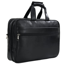 Load image into Gallery viewer, Hard Craft Premium Leather Office Laptop Bag Briefcase - Black