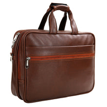 Load image into Gallery viewer, Hard Craft Premium Leather Office Laptop Bag Briefcase - Brown