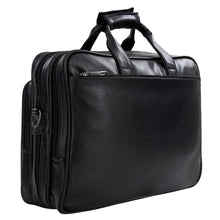 Load image into Gallery viewer, Hard Craft Premium Leather Office Laptop Bag Expandable Briefcase - Black
