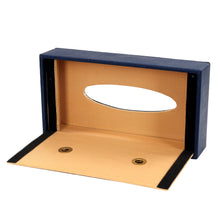 Load image into Gallery viewer, Hard Craft Leather Finish Tissue Box - Blue