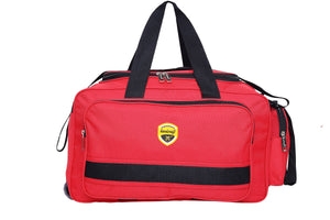 Hard Craft Lightweight Waterproof Luggage Travel Duffel Bag with Wheels - Red