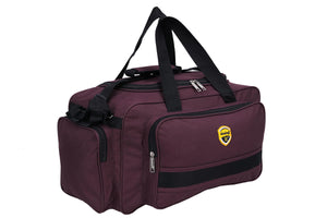 Hard Craft Lightweight Waterproof Luggage Travel Duffel Bag with Wheels - Purple