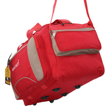 Load image into Gallery viewer, Hard Craft Large Size Waterproof Luggage Travel Duffel Bag with Wheels - Red Batch