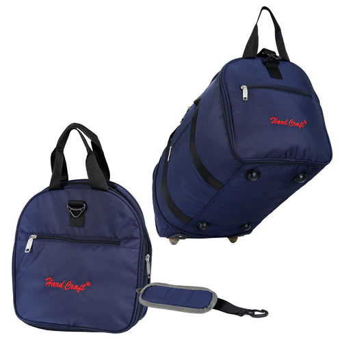 Hard Craft Lightweight Luggage Folding Travel Wheel Bag - Blue