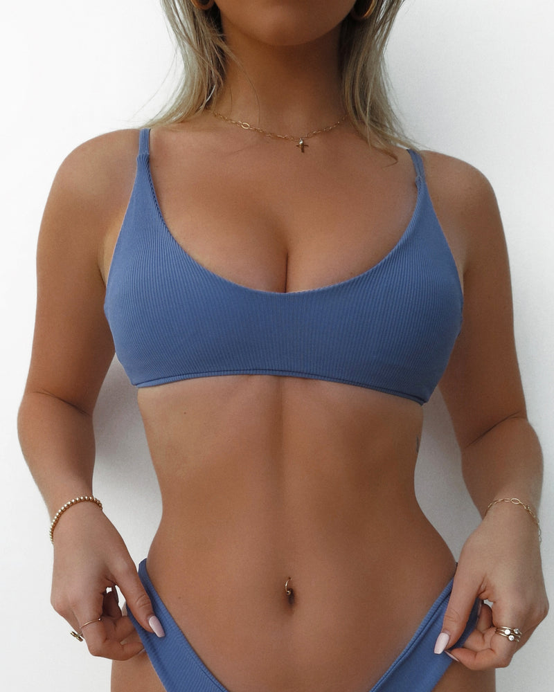 YOGI TOP- Steel Blue