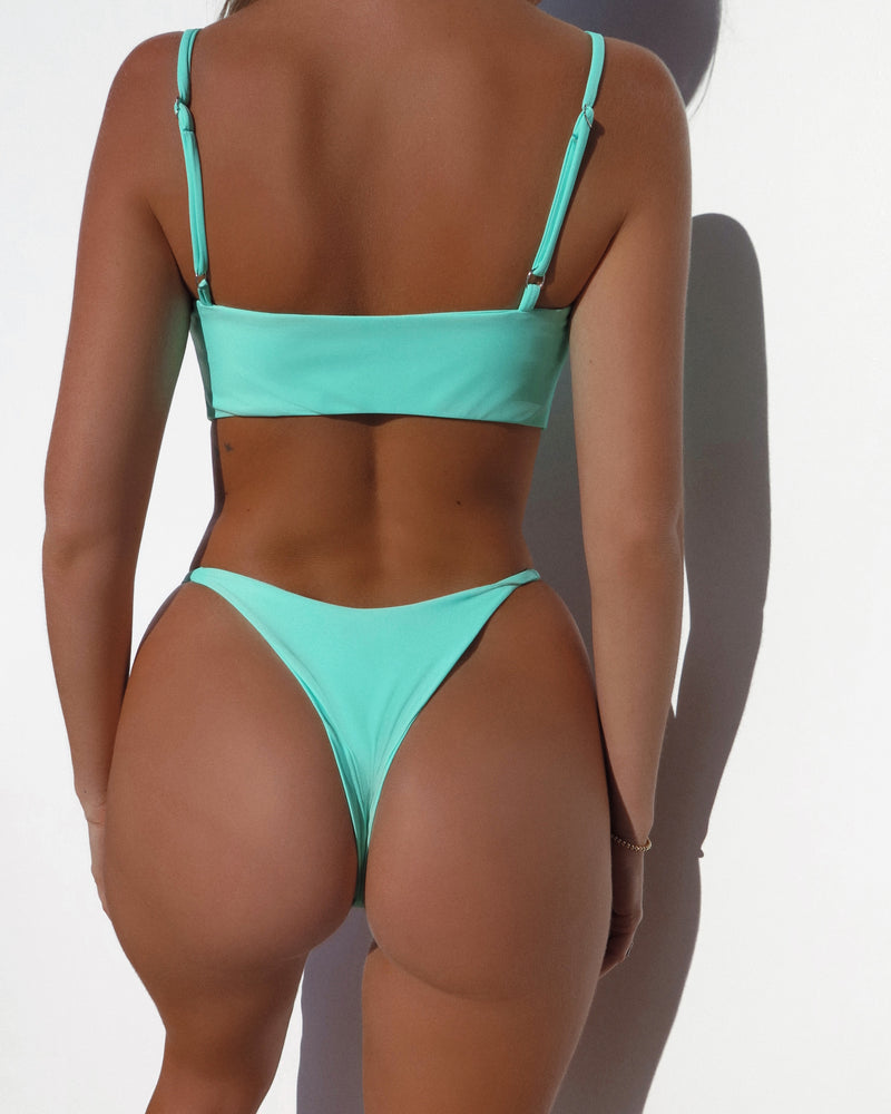 TIE UP BOW TOP- Mint