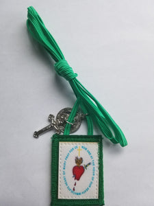 The Green scapular in color pack of 100 (SAVE $1000)