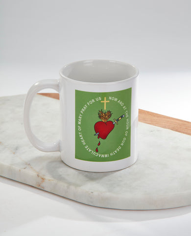 FOR THE IMMACULATE HEART TRIUMPH Green Scapular Reminder Mug