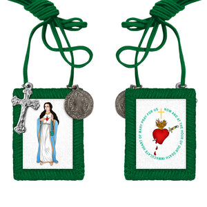 The Green Scapular in color pack of 10 (SAVE $50)