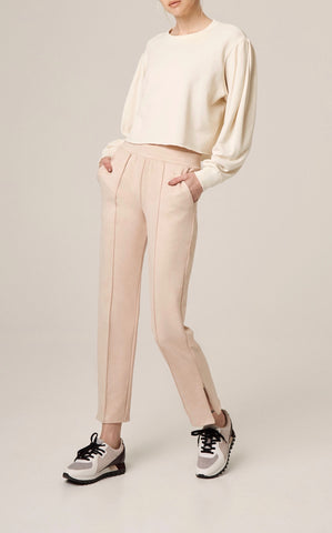 Pin Tuck Straight Leg Pant
